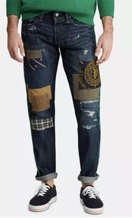 POLO RALPH LAUREN More Jeans Printed Pants Street Style Cotton Logo Jeans 2