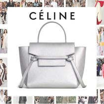 CELINE Calfskin 2WAY Plain Elegant Style Handbags