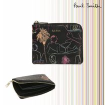 Paul Smith Tropical Patterns Unisex Street Style Leather