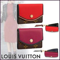 Louis Vuitton TUILERIES Blended Fabrics Bi-color Leather Small Wallet