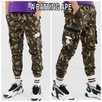 A BATHING APE Camouflage Street Style Cotton Cargo Pants