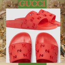 GUCCI Monogram Street Style Shower Shoes Shower Sandals