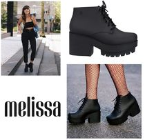 Melissa Platform Collaboration PVC Clothing Platform Pumps & Mules