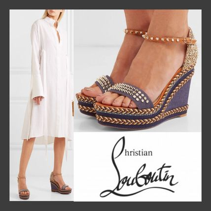 promo code 06063 16f69 Christian Louboutin Madmonica 2019 SS Studded Platform & Wedge Sandals