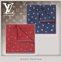 Louis Vuitton Unisex Silk Other Animal Patterns Handkerchief