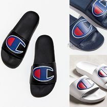 CHAMPION Faux Fur Street Style Shower Shoes Shower Sandals