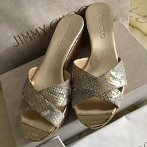 Jimmy Choo Open Toe Casual Style Blended Fabrics Plain