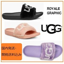 UGG Australia Open Toe Faux Fur Plain Sandals