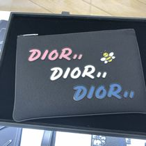 Christian Dior Nylon Plain Clutches