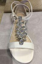 Jimmy Choo Open Toe Blended Fabrics Plain Leather With Jewels