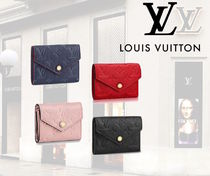 Louis Vuitton Monogram Unisex Plain Leather Folding Wallets