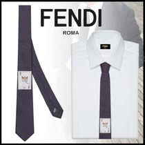FENDI Silk Plain Ties