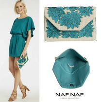 NAF NAF Flower Patterns Blended Fabrics 2WAY Chain Party Style