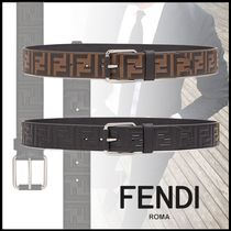 FENDI Monogram Leather Belts