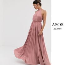 ASOS Maxi Sleeveless Halter Neck Plain Long Elegant Style Dresses
