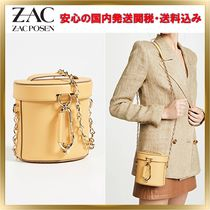 ZAC ZAC POSEN 2WAY Chain Plain Leather Elegant Style Shoulder Bags