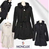 MONCLER Plain Long Elegant Style Coats