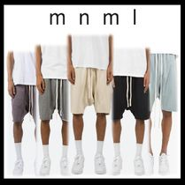 MNML Sweat Blended Fabrics Street Style Plain Oversized Shorts