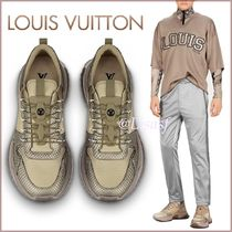 Louis Vuitton Blended Fabrics Street Style Bi-color Leather Python