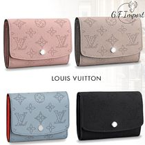 Louis Vuitton MAHINA Blended Fabrics Bi-color Leather Folding Wallets