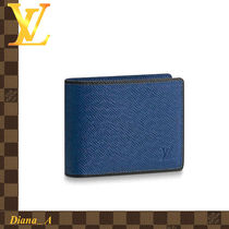 Louis Vuitton TAIGA Leather Folding Wallets