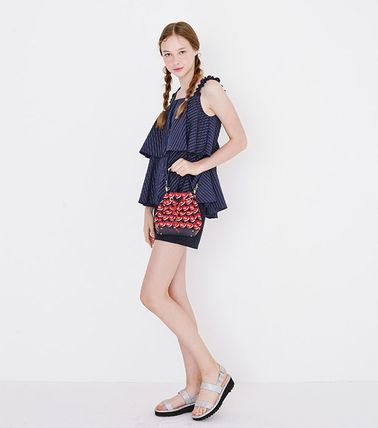 Heart Casual Style 2WAY Crossbody Logo Shoulder Bags