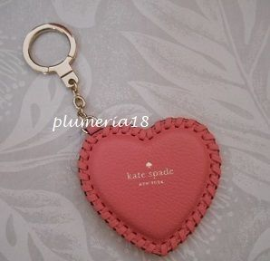 kate spade new york Heart Leather Keychains & Bag Charms