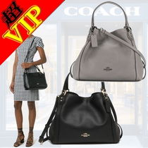 Coach EDIE Unisex 2WAY Leather Office Style Shoulder Bags