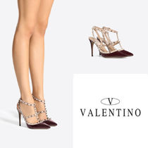 VALENTINO Casual Style Studded Street Style Leather Home Party Ideas
