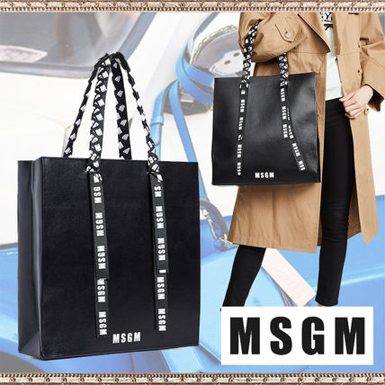 Street Style Leather Totes