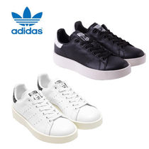 adidas STAN SMITH Dots Platform Casual Style Unisex Leather