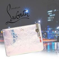 Christian Louboutin Unisex Chain Plain Leather Clutches