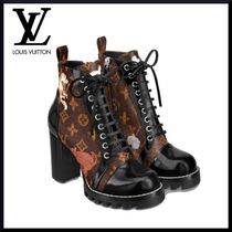 Louis Vuitton MONOGRAM Monogram Plain Toe Other Animal Patterns Block Heels