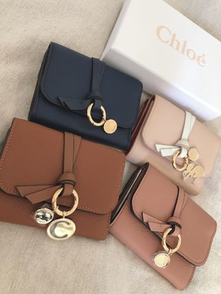 Chloe Folding Wallet Plain Leather Folding Wallets