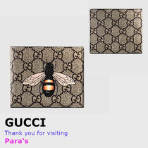 GUCCI GG Supreme Canvas Other Animal Patterns Folding Wallets