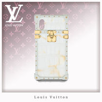 Louis Vuitton Blended Fabrics Leather Smart Phone Cases