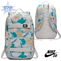 Nike Flower Patterns Unisex A4 Backpacks