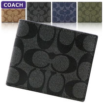 Coach SIGNATURE Id Billfold Wallet In Signature Canvas