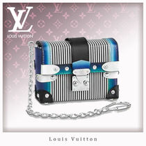 Louis Vuitton Stripes Blended Fabrics Chain Leather