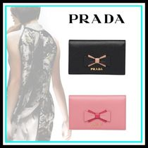 PRADA Leather Home Party Ideas Card Holders