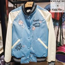 Coach Short Heart Flower Patterns Casual Style Street Style