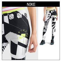 Nike Monogram Casual Style Street Style Medium Skinny Pants
