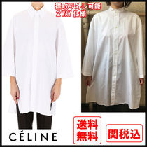 CELINE Casual Style Street Style Long Sleeves Cotton