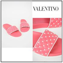 VALENTINO Other Check Patterns Casual Style Slippers Sandals