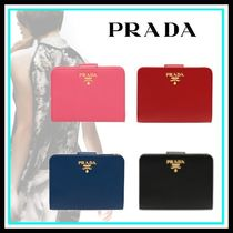 PRADA Leather Home Party Ideas Folding Wallets