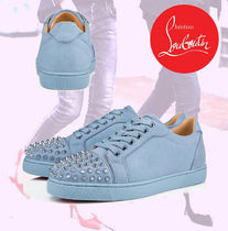 Christian Louboutin Casual Style Studded Plain Low-Top Sneakers