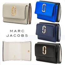 MARC JACOBS Street Style Bi-color Leather Folding Wallets