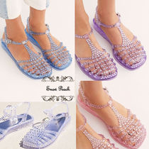 Free People Casual Style PVC Clothing Flat Sandals