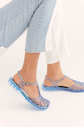 Casual Style PVC Clothing Flipflop Flat Sandals