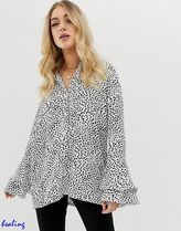 ASOS Leopard Patterns Casual Style Long Sleeves